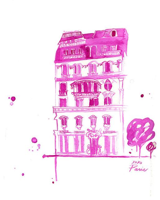 XoXo Paris Print by Jessica Durrant contemporary-artwork