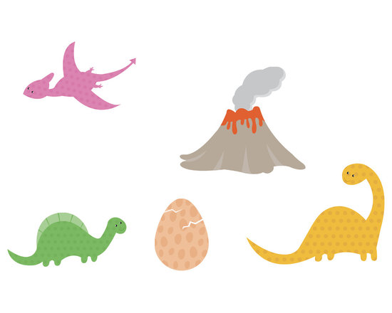 Bebe Diva - Dinosaur Wall Decal Stickers - A quick and easy way to decorate your child`s room and nursery!