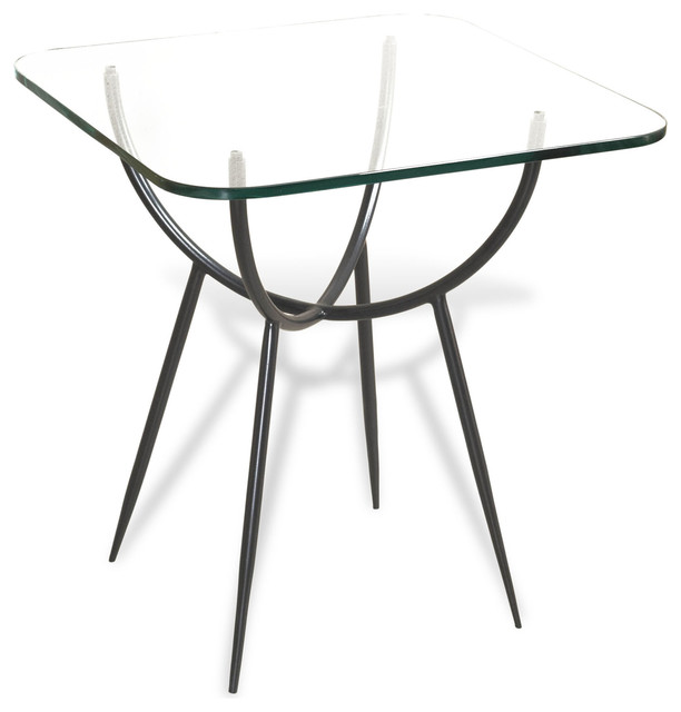 Alloro Rectangular Modern Glass Side End Table contemporary-side-tables-and-end-tables
