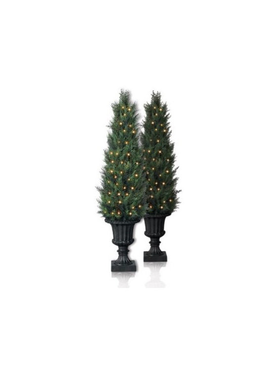 Balsam Hill Baby Cypress Artificial Christmas Trees - WELCOME THE BEAUTY OF TUSCANY WITH BALSAM HILL'S BABY CYPRESS POTTED TREES |