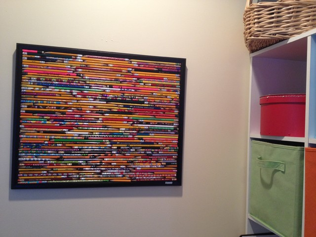 What to do with Old Pencils? eclectic kids decor