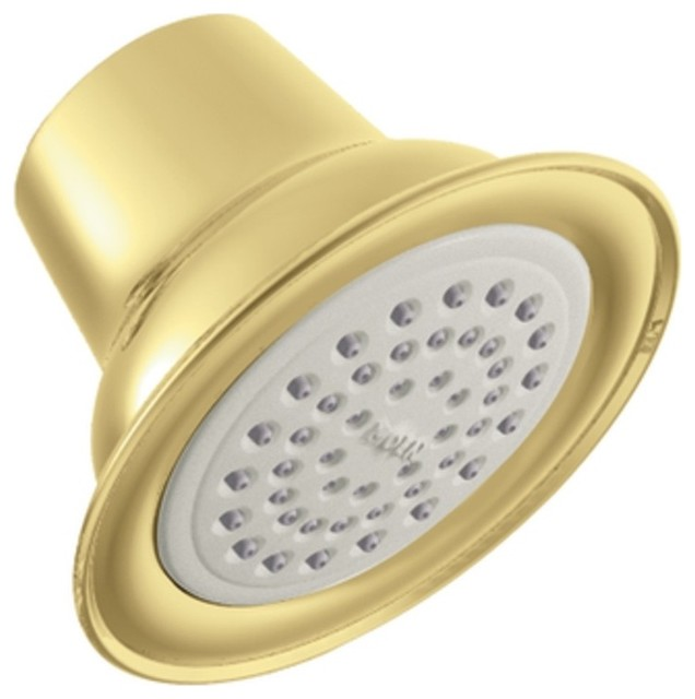 Moen 6303P Easy Clean XLT Single-Function Showerhead in Polished Brass traditional-showerheads-and-body-sprays