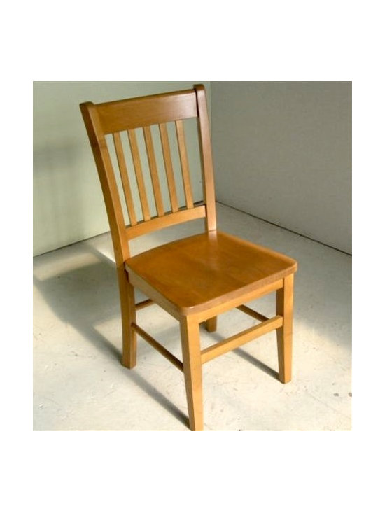 Mission Style Dining Chair in Fruitwood Finish - Made by http://www.ecustomfinishes.com