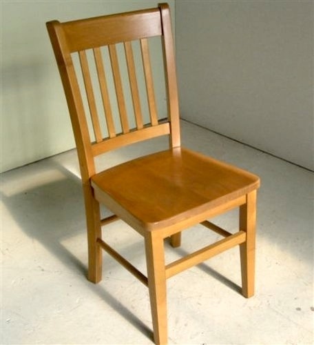 Mission Style Dining Chair in Fruitwood Finish Farmhouse Dining Chairs
