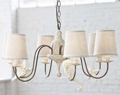 Regina Andrew Rusted Arm Antique Chandelier with Shells-Small traditional-chandeliers