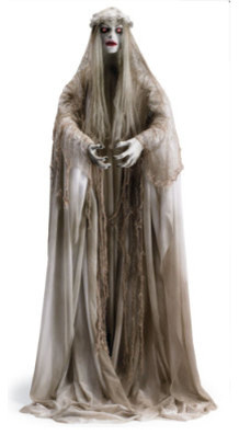 Life-size Venetian Victoria Halloween Figure - Halloween Decorations and Decor traditional-holiday-decorations
