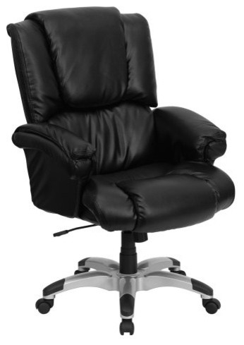 Flash Furniture High Back Overstuffed Executive Office Chair Black Tradit