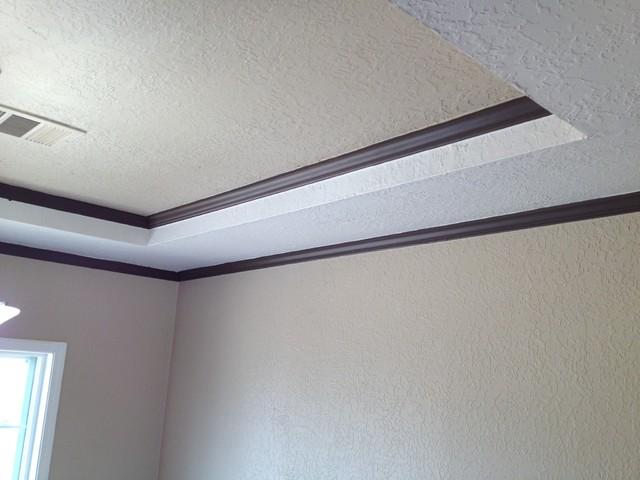 Nomadic desert walls tray ceiling divine white for Tray ceiling trim ideas