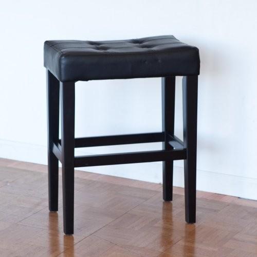 Palazzo 26 Inch Saddle Counter Stool - Black contemporary-bar-stools-and-counter-stools