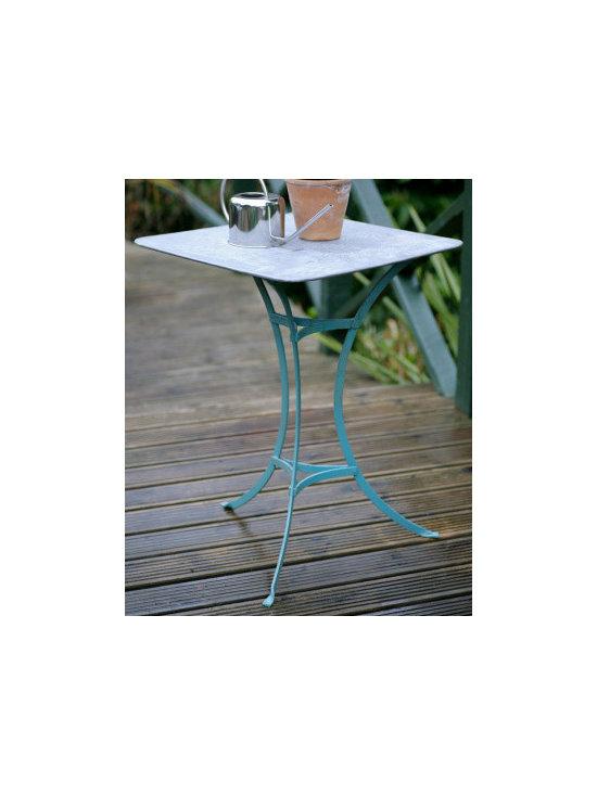 Blue Handmade Square Medium Table -