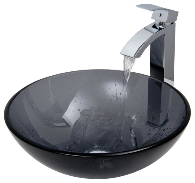 Handmade Vessel Sink and Faucet Set Contemporary