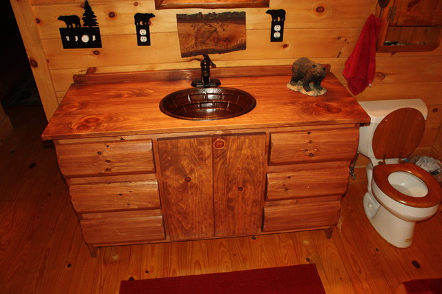 Rustic Vanity Sink : ... Storage Furniture / Bathroom Storage & Vanities / Bathroom Vanities