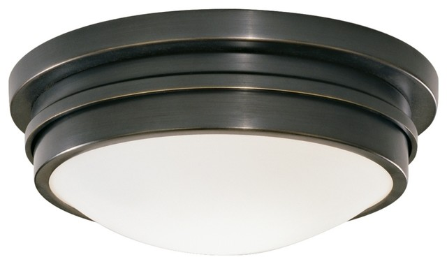 "Country - Cottage Roderick Collection Bronze 10"" Wide Flushmount Ceiling Light traditional-ceiling-lighting"