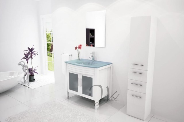 Modern bathroom sink consoles new dining rooms walls for Bathroom consoles and vanities