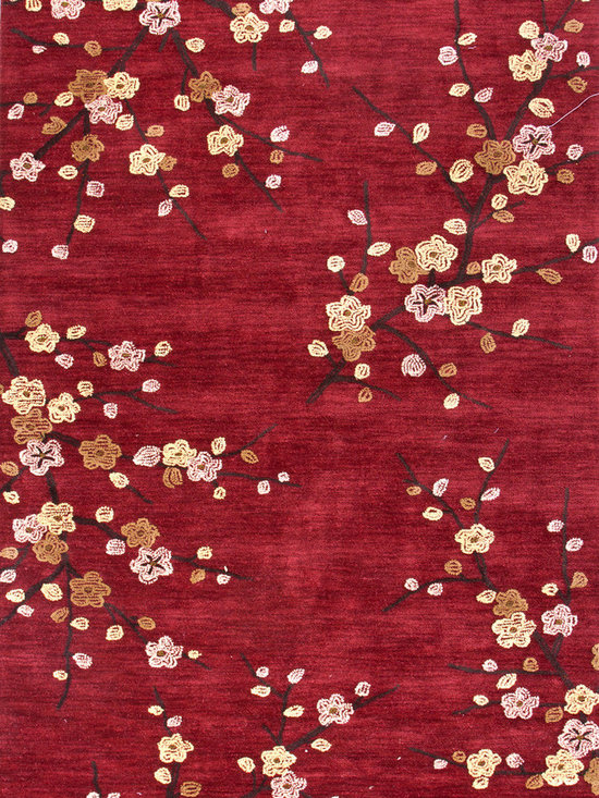 Jaipur Rugs - Transitional Floral Pattern Red /Orange Polyester Tufted Rug - BR17, 3.6x5.6 - A youthful spirit enlivens Esprit, a collection of contemporary rugs with joie de vivre! Punctuated by bold color and large-scale designs, this playful range packs a powerful design punch at a reasonable price.
