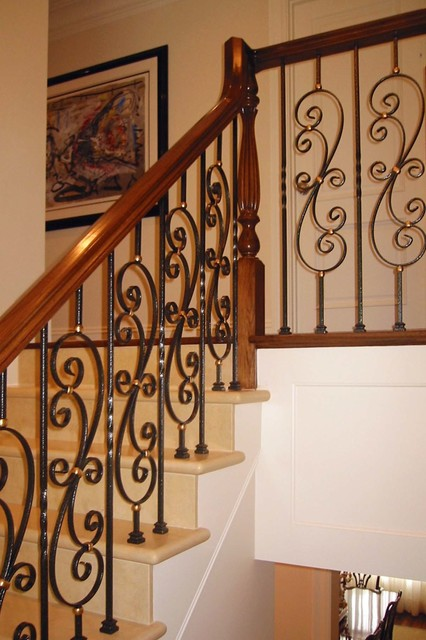 newton residence 1 - stairway - dplk.40 traditional-staircase