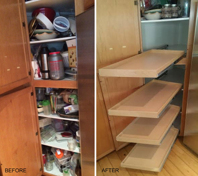 Angled Pantry Shelves - Pantry - los angeles - by ShelfGenie of Los Angeles