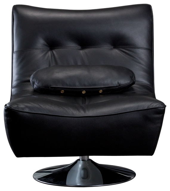 Diamond Sofa Ultimate Swivel Armless Chair in Black traditional-living-room-chairs