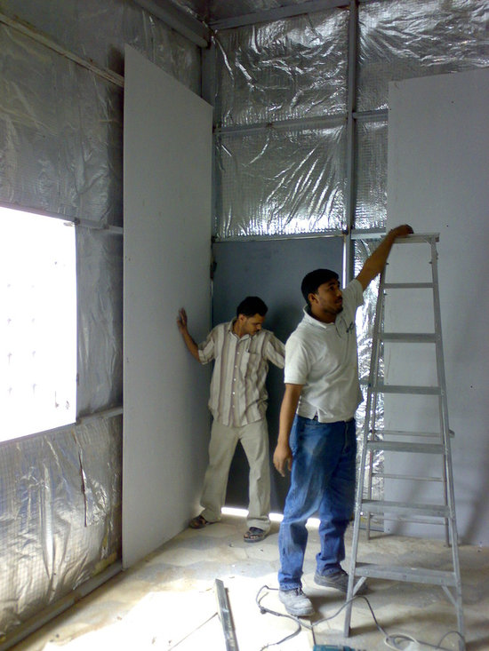 Aces Arab Laboratory Extension - Gybson Boards Installation