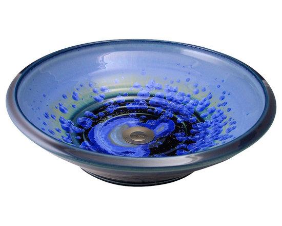 Indikoi Sinks LLC - SOHO: Vessel Mount Sink, Sky Crystal - The Soho style is a low sleek vessel mount sink.