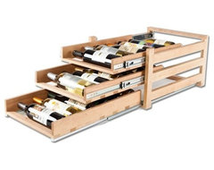 Wine Logic In-Cabinet Wine Storage, 3 Tier (18 Bottles) traditional-wine-and-bar-cabinets
