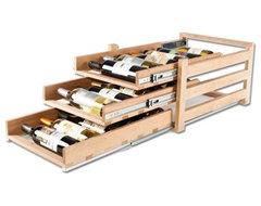 Wine Logic In-Cabinet Wine Storage, 3 Tier (18 Bottles) traditional-wine-racks