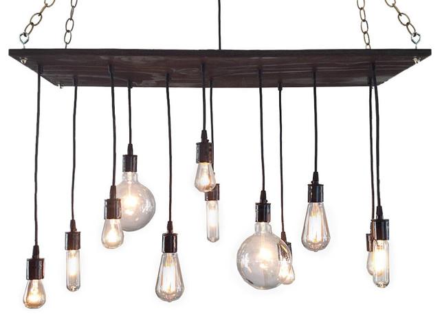 Rustic Industrial Modern Mason Jar Light Fixture Porch By: Rustic Chandelier With Edison Bulbs, Black Porcelain