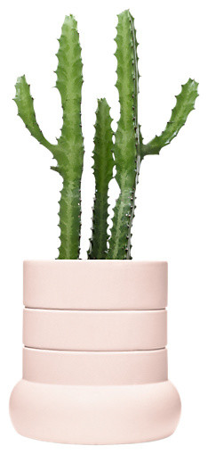 Tall Plant Pot, Pale Pink contemporary-indoor-pots-and-planters