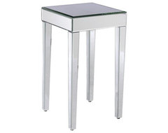 Mirrored Side Table eclectic-side-tables-and-end-tables