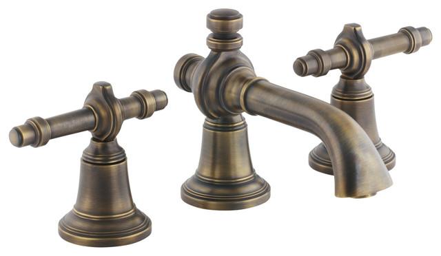 Inigo by Michael S Smith Basin Faucet Set, Lever Handles - Traditional - Bathroom Faucets ...