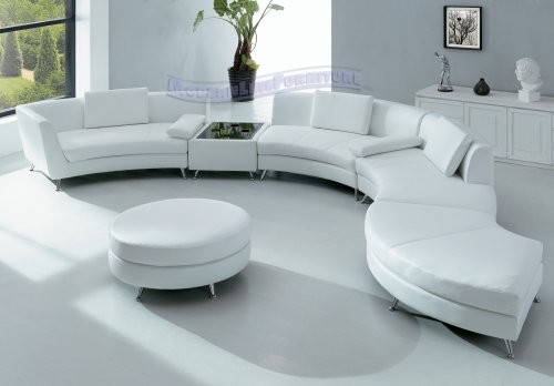 Modern Furniture White Leather Sectional Sofa modern sectional sofas