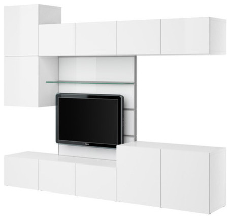BESTÅ TV panel with media storage - Scandinavian - Entertainment Centers And Tv Stands - by IKEA