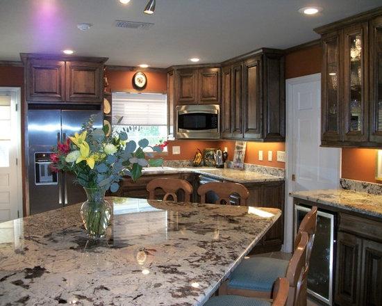 kitchen cabinet and granite countertop -