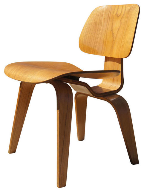 Vintage Oak DCW Dining Chair By Eames For Herman Miller Midcentury Dining