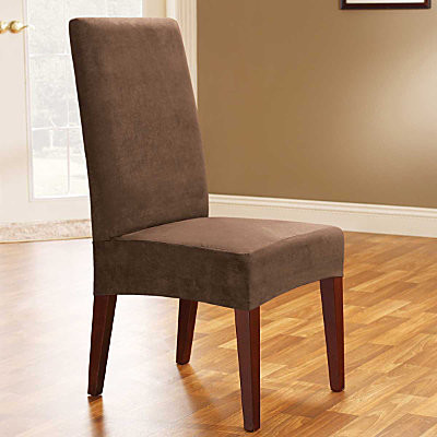 microsuede short dining chair cover contemporary