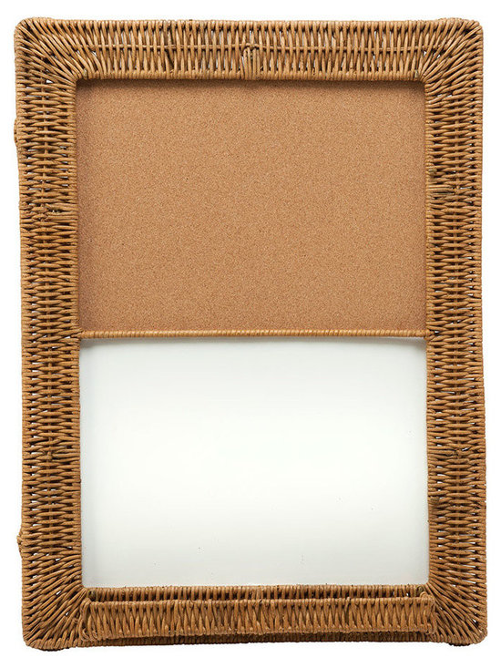 Kouboo - Magnetic Dry Erase and Cork Board With Wicker Frame - Take note! Natural cork and wicker lend a pleasing look to your everyday reminders. Hang this board in the kitchen, office or a child's room to add a homespun touch. 18x24