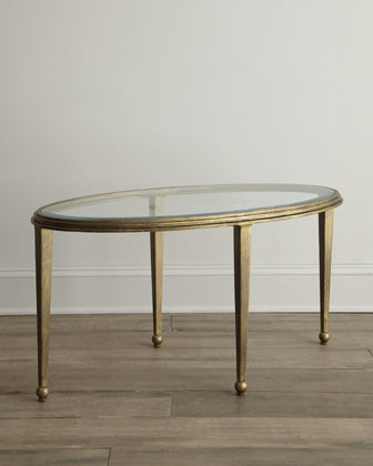 Montague Oval Glass Coffee Table Traditional Coffee Tables By Horchow