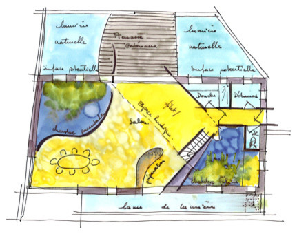 Cr ation d 39 une maison dans le lierre contemporary floor plan for Creation plan maison