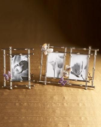 Arthur Court Butterfly Double Frame traditional-picture-frames