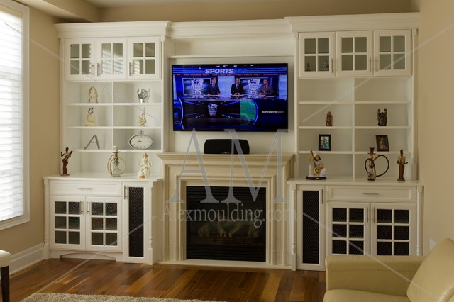 Modern Build In Wall Units Traditional Home Office