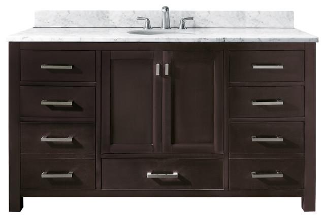 Modero Single Vanity Only Espresso Contemporary Bathroom Vanities And Si