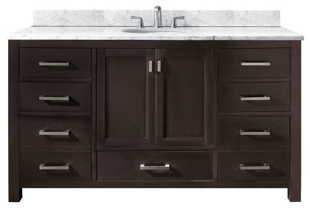 Modero Single Vanity Only Espresso Contemporary