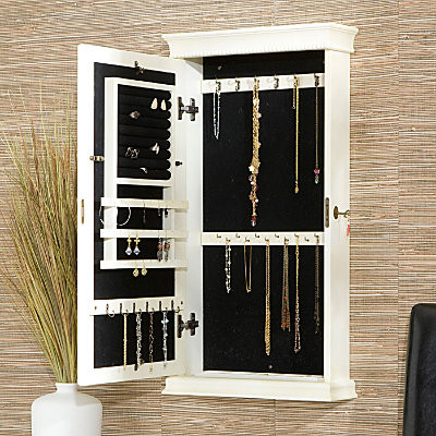 Imperial Mirrored Jewelry Cabinet - Contemporary - Storage Cabinets - by Improvements Catalog