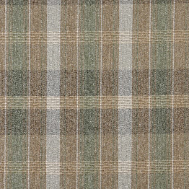 Brown Green And Ivory Plaid Country Tweed Upholstery