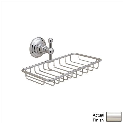Rohl A1493STN Soap Basket Double traditional-bath-and-spa-accessories