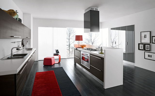 Italian Kitchens (by EFFEQUATTRO - Moon ) modern-kitchen-cabinetry