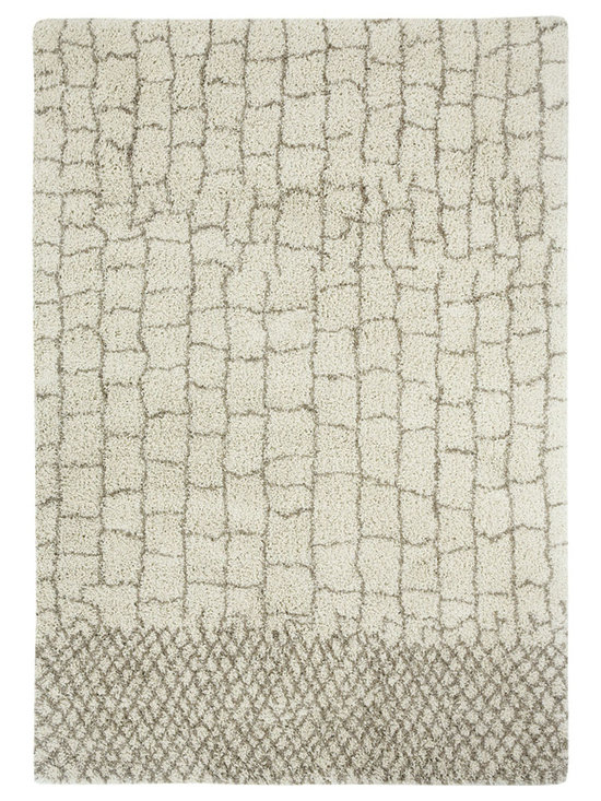 Tangier rug in Stone - Fashionable Moroccan patterns provide plenty of North African Tribal style at an incredible value price point.