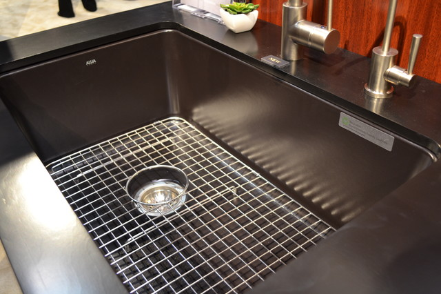 Allia Fireclay Matte Black Sink By Rohl
