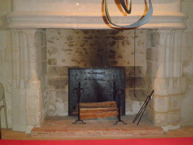 Antique firebacks for 15th century castle in sarthe france traditional fireplace - Firebacks for fireplaces ...