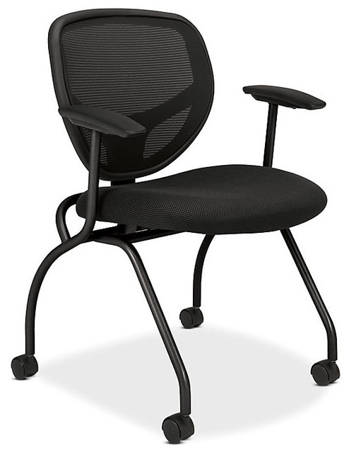 Basyx Mesh Nesting Armchairs, Set of 2 contemporary-office-chairs